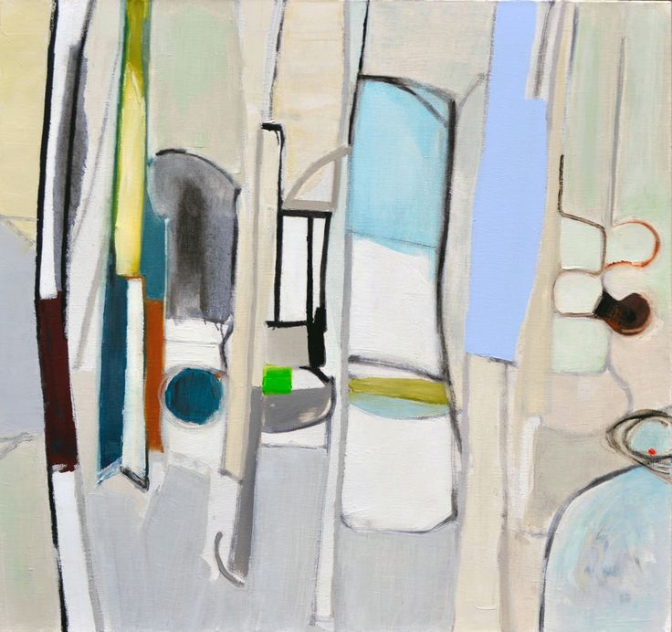 Beverley Rouwen The Other Space Oil on Linen 85 x 80 cm  #Art #Oil #Painting