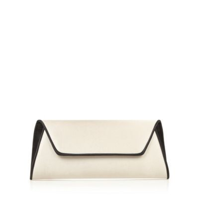 Principles by Ben de Lisi Designer natural contrast piped clutch bag- at Debenhams.com