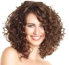 Image result for medium length curly hairstyles with bangs and layers