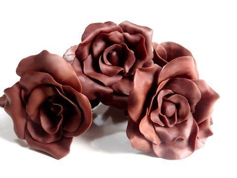 Receta: Chocolate para modelar -- Tutorial rosa de chocolate -- Vídeo receta (Paso a paso) - YouTube