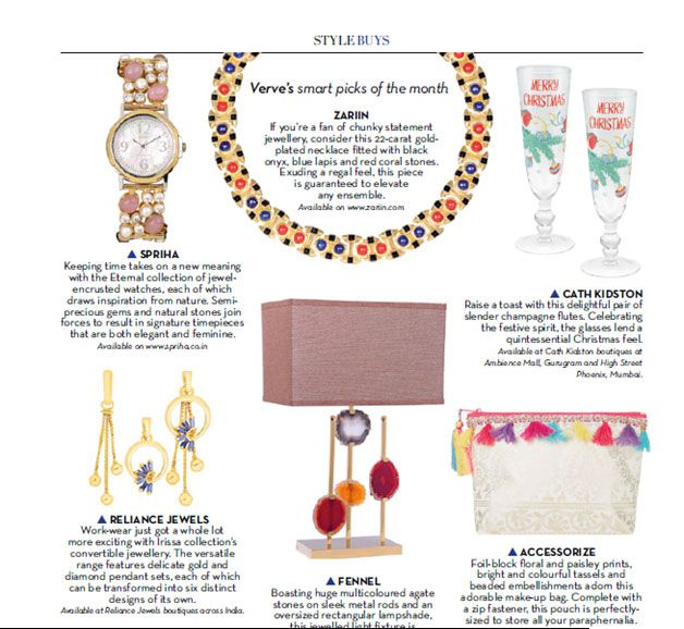 As seen in Verve  Verve's smart picks of the month.  www.reliancejewels.com  #reliance #reliancejewels #jewellery #gold #diamond #verve #fashion #magzine