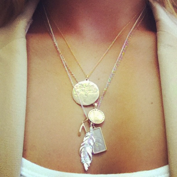 Such a pretty pic of layered charms by Stella & Dot. Photo by Carol Grauer. #StellaDotStyle