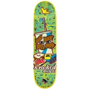Krooked Skateboards <br> Krooked Dan Drehobl Kafeteria Deck <br> 8.5x32.18