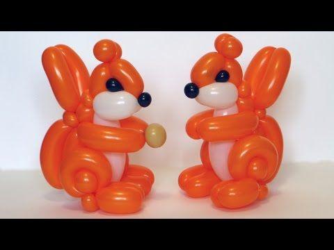 Белка из шаров / Squirrel of balloons twisting tutorial - YouTube