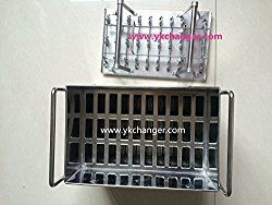 Get the very best commercial popsicle molds custom made from food grade stainless steel. Best price and largest inventory of paleta molds for use in a gourmet popsicle business.
