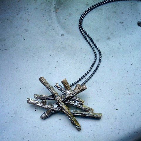 A Sneak Peek of our new Slashpile necklace. What do you think? Slashpiles are the giant piles of logs found in clearcuts--a familiar sight to all tree planters!  #slashpile #treeplanting #clearcut #treeplanter #slashpiledesigns #logging #forestry