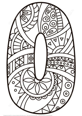 Number 0 Zentangle coloring page from Zentangle Numbers category. Select from 27007 printable crafts of cartoons, nature, animals, Bible and many more.