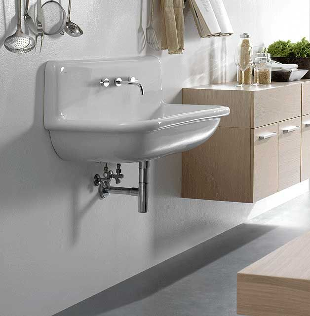 A Sleek Wall Mounted Alia Utility Sink From Lacava For The Kitchen, Laundry  Room