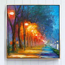 Ручной мастихином дерево пейзаж маслом современный абстрактный картина маслом стены искусства современного холст искусства на холсте ( без рамки )(China (Mainland))