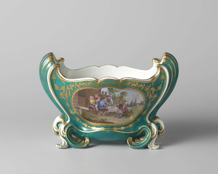 Flower vase (cuvette Mahon), Manufacture de S�vres, Jean Claude Duplessis, Jacques-Philippe Le Bas, c. 1761
