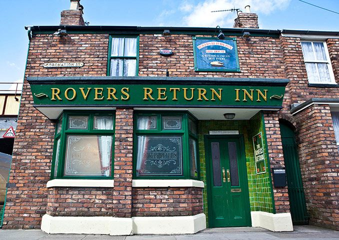 The Iconic Rovers Return Pub from Corination Street