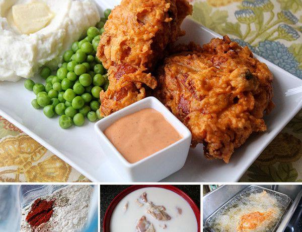 Spicy Popeye's Fried Chicken with Delta Sauce