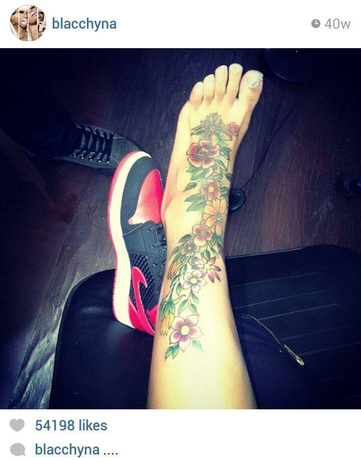 14 best blacchyna images on pinterest blac china black for Blac chyna leg tattoo