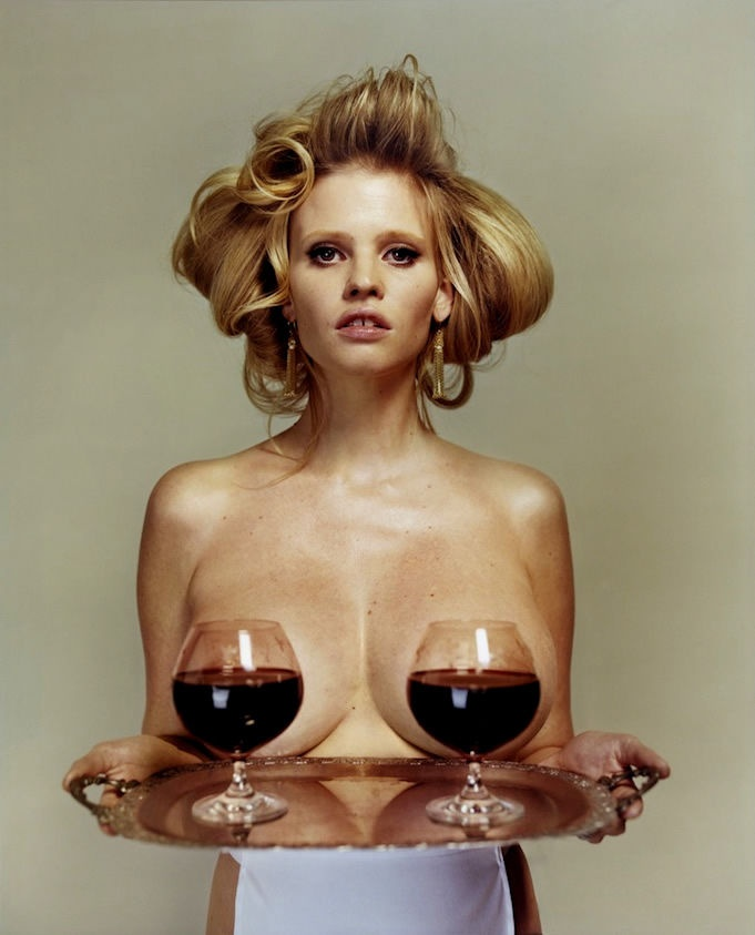 Lara Stone by Tyrone Lebone for i-D Spring 2013