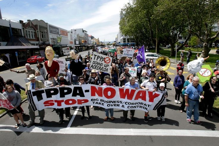 Are you in favour of the TPPA? No. What do you think?