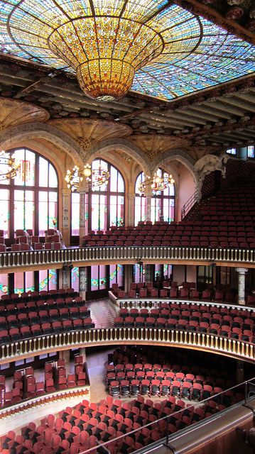 El Palau de la Música Catalana Designed in the Catalan modernista style by the architect Lluís Domènech i Montaner, it was built between 1905 and 1908 for the Orfeó Català. It was inaugurated February 9, 1908. Catalonia | Europe