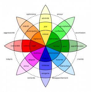 """Il existe plusieurs manières de catégoriser les émotions, l'une des plus connues, que nous a montrée Frédéric Alexandre, est la """"roue de Plu..."""