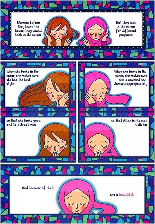 Why is judging non hijabbd women ok?  Because that is the point of this.  I am better than you, you infidel.