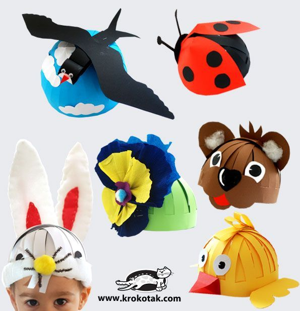 Masks (hats) for kids | krokotak