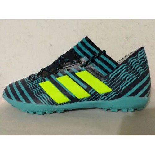 бутсы Adidas - футбольныебутсы Adidas Nemeziz 17.3 TF синий желтый черный горячий