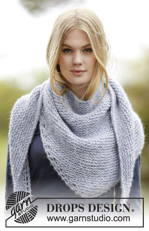 Hand Knitted shawl made from baby alpaca and merino wool..Made to order by VaniasCreations on Etsy