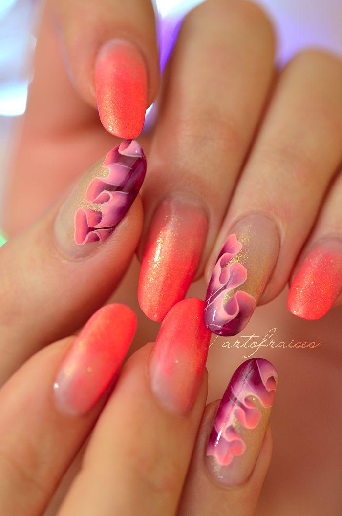 one stroke drapé #nails #nailart #beautyinthebag