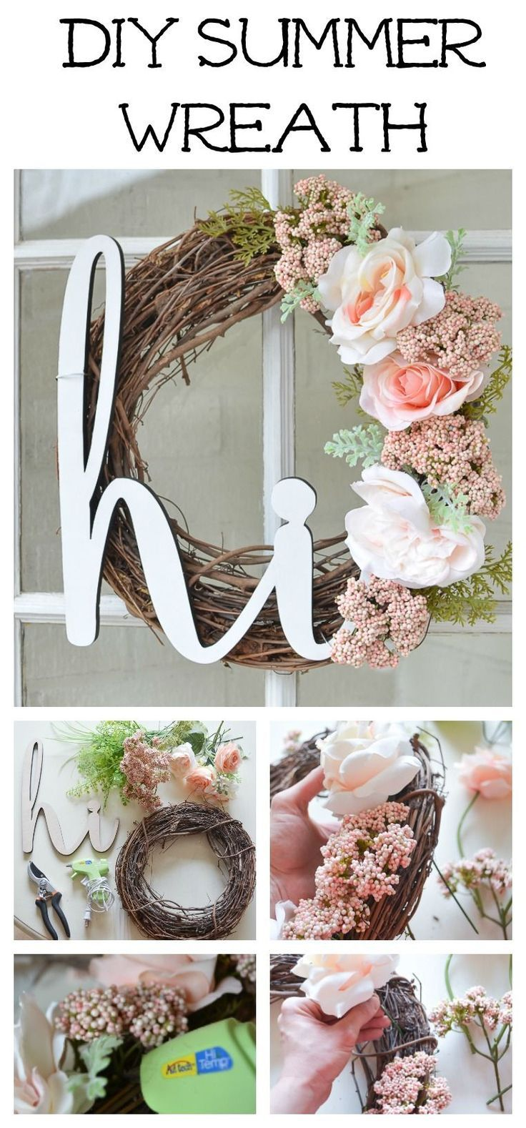 Diy Summer Wreath For Your Front Porch Summer Diy Wreaths Diy Door