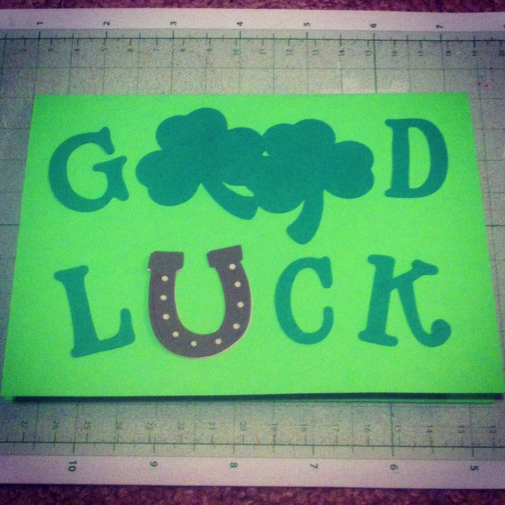 It's just a picture of Bewitching Printable Good Luck Cards