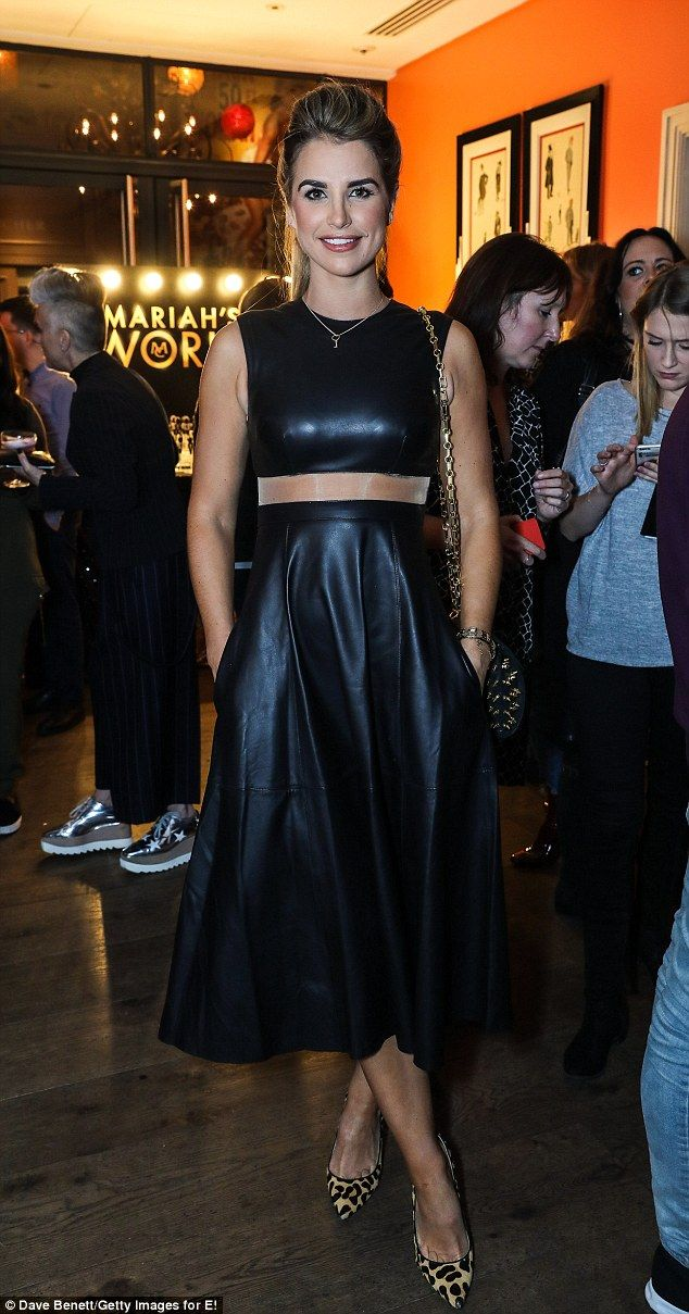 Sheer perfection: Vogue's  pleated midi number featured a sheer panel at the waist...
