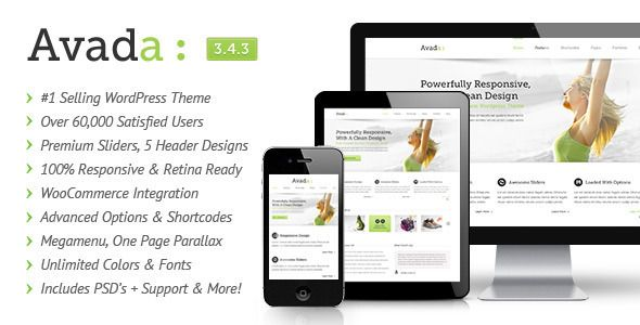 Avada - No.1 Multi Purpose Responsive WordPress Theme of Themeforest