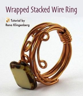 Wrapped Stacked Wire Ring Tutorial | Wire Wrapped Ring DIY | Easy DIY Wire Ring | DIY Wire Wrapped Ring #easywirewrappedrings #diyrings #wireringstutorial #wireringseasy #ringstutorials #wirewrappedringsdiy