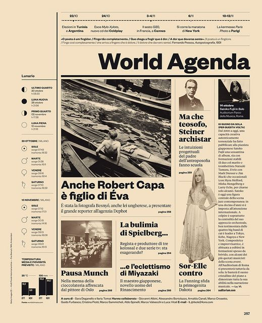 World Agenda:  IL redesign by Francesco Franchi  Designer: Ilaria Tomat