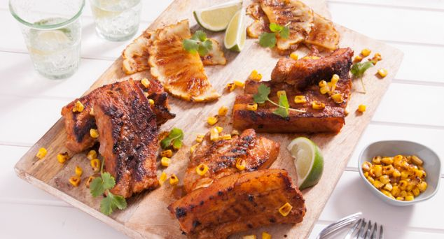 Sticky, sweet and a BBQ fave! Try these Thai Spare Ribs with Caramelised Pineapple.  #summer #bbq #recipe