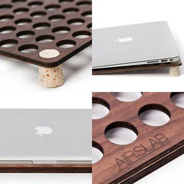 Solo Deo Gloria's Steve Dubbeldam:  Airl Slab  cooling rack for laptops.  @ Fab.com | A Handy Laptop Accessory