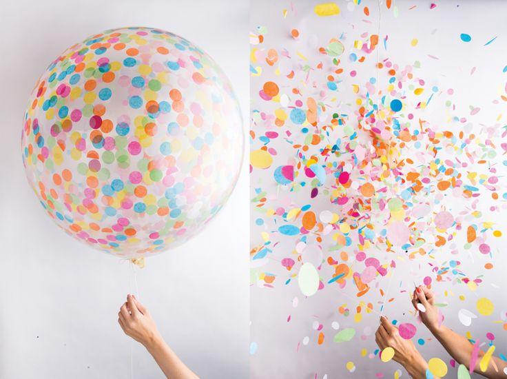 Ballon géant Confetti Multicolore