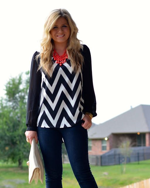 high heels & high notes: Chevron Chic