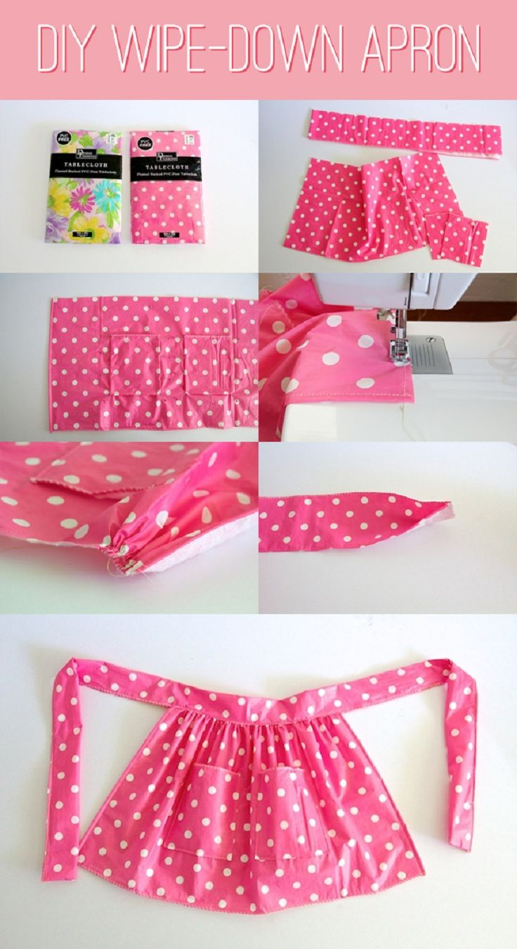 Design wise, not made out of plastic table cloth. Maybe out of duck cloth if prices ok.  Top 10 Adorable DIY Aprons - Top Inspired - i;m thinking pillowcase apron