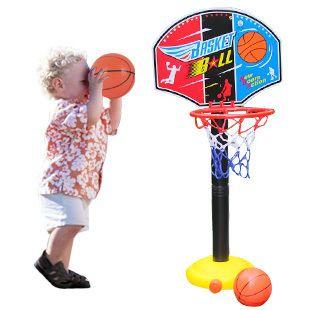 Bohs子供子供ミニチュアバスケットボールフープセットスタンドadjujstableでインフレータおもちゃ男の子用、115センチ、屋外楽しい&スポーツ
