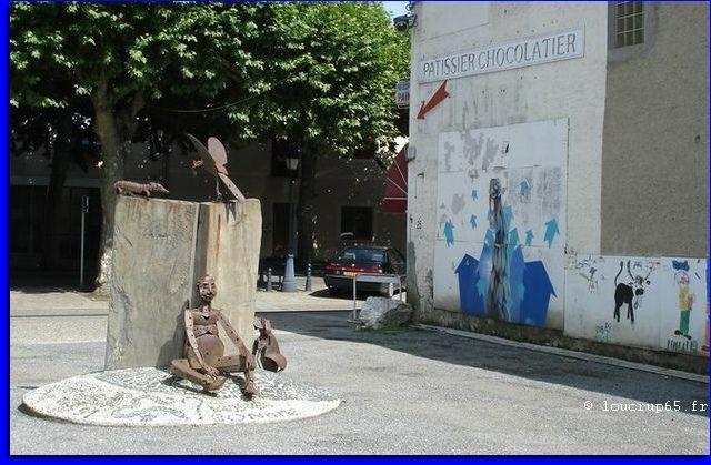 sculpture de Yves Lacoste. Maubourguet