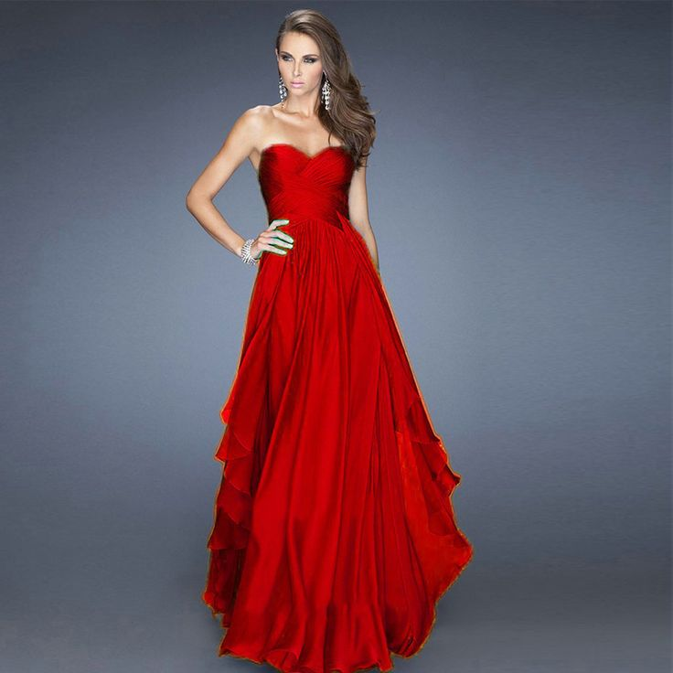 Designer red dresses google search dresses strapless - Designer red carpet dresses ...
