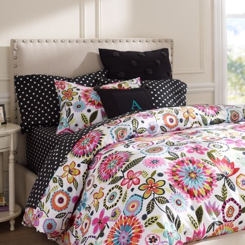 bella floral duvet cover sham pbteen tween pinterest twin xl the guest and flower. Black Bedroom Furniture Sets. Home Design Ideas