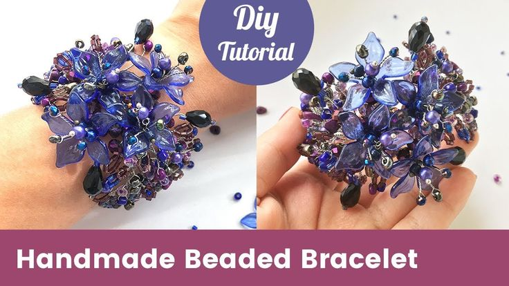 How to Make Beaded Bracelet with Crystals, Beads and Wire [Eng Subtitles]