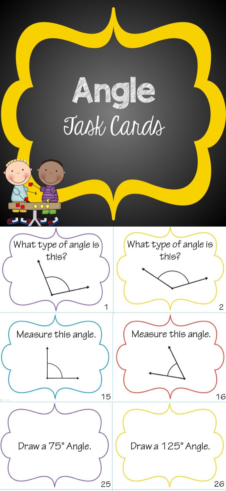 Best 25 measurement of angles ideas on pinterest 4th grade math angle task cards fandeluxe Choice Image