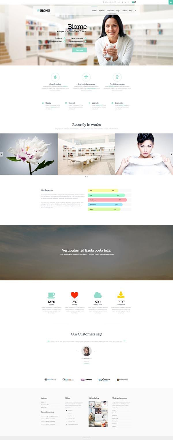 Biome : Multipurpose One Page WordPress Theme