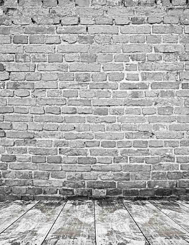 Gray Brick Wall Texture White Wood Floor Mat Photography Backdrop J 0318 White Wood Floors Grey Brick Brick Texture