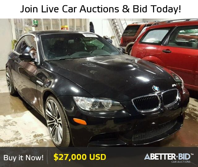 Salvage  2012 BMW M3 for Sale - WBSDX9C59CE784669 - https://abetter.bid/en/24165347-2012-bmw-m3