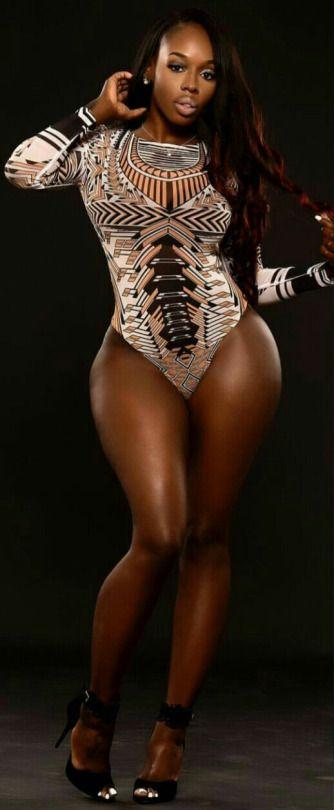 big buck Black woman white