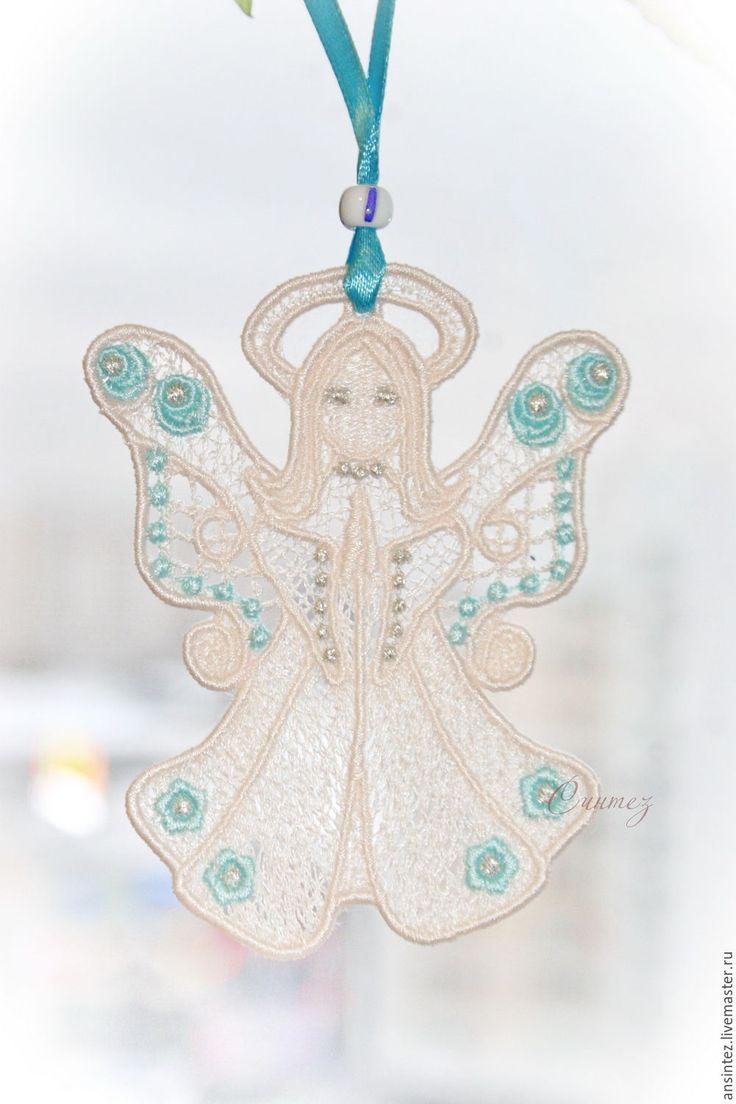 Купить Цветочный Ангел вышитый кружевной декор игрушка для мобиля - Ангел хранитель, ангел снов