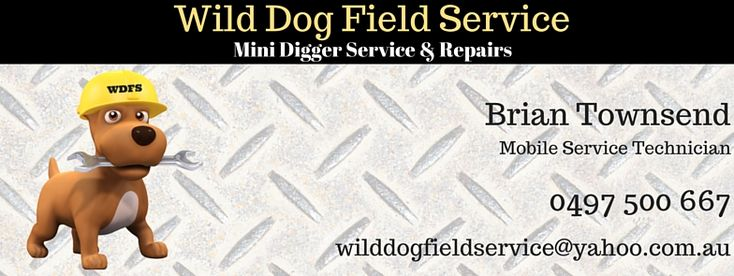 Wild Dog Field Service with Brian Townsend. Servicing all mini diggers including Dingo & Torro, plus other small engines.