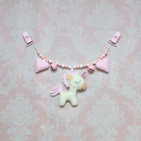 Unicorn stroller mobile pram chain Stroller chain pram toy